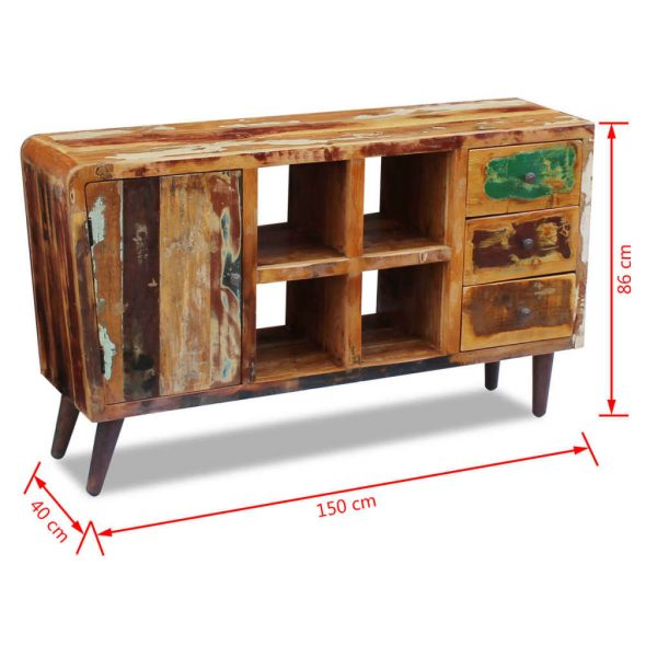 Sideboard Solid Reclaimed Wood 150x40x86 cm 9