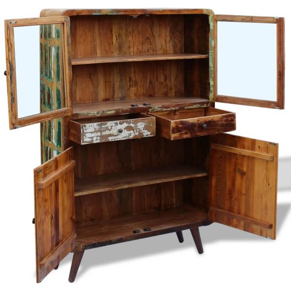 Sideboard Solid Reclaimed Wood 120x38x180 cm 8