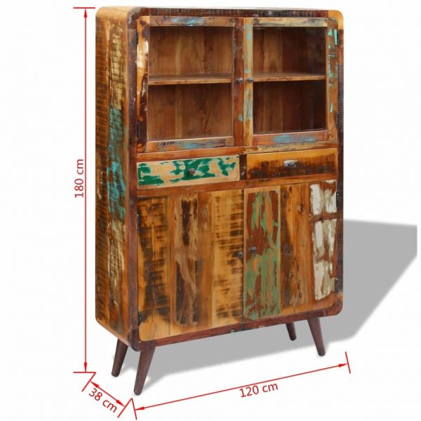 Sideboard Solid Reclaimed Wood 120x38x180 cm 9
