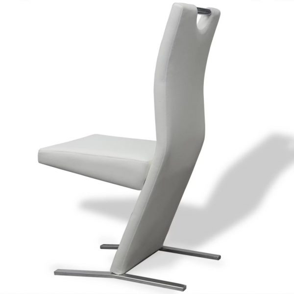 Dining Chairs 6 pcs White Faux Leather 6