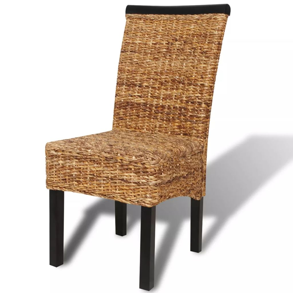 Dining Chairs 2 pcs Abaca and Solid Mango Wood 5