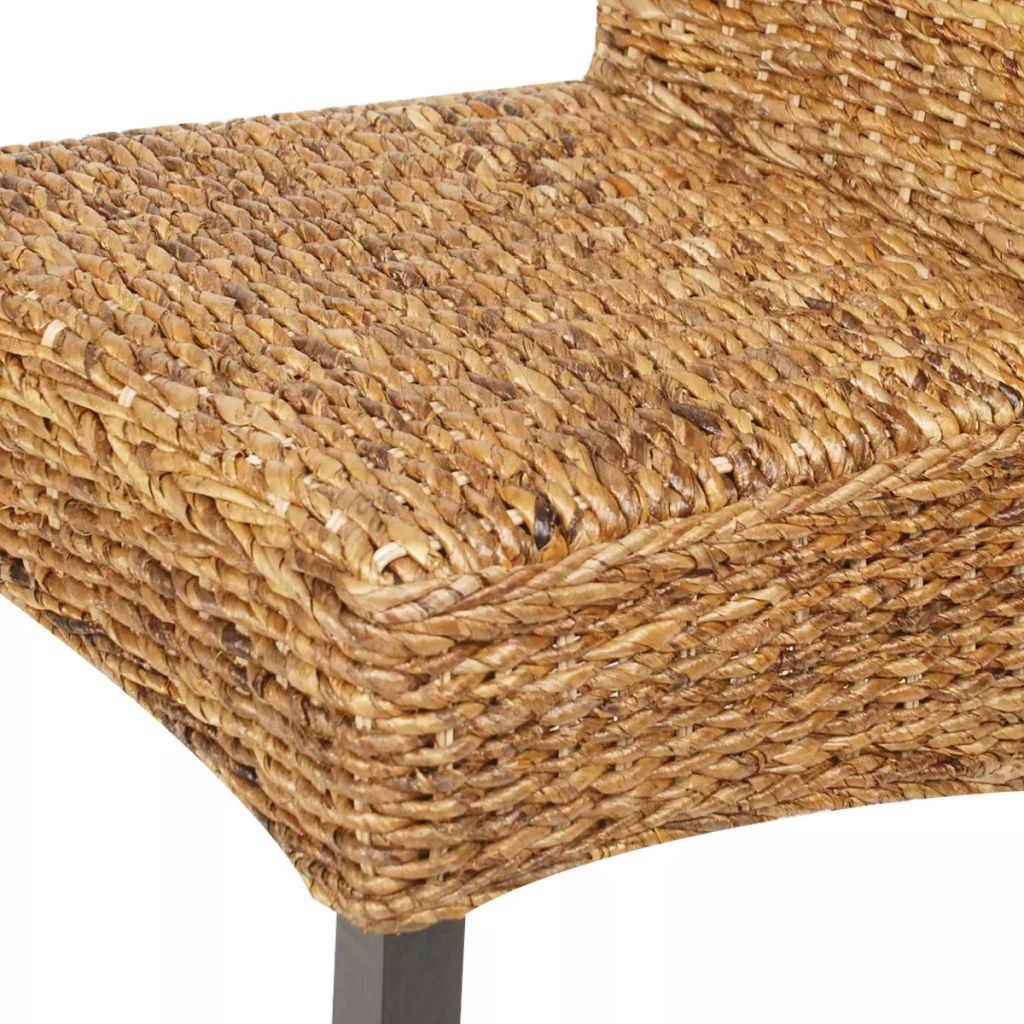 Dining Chairs 2 pcs Abaca and Solid Mango Wood 7