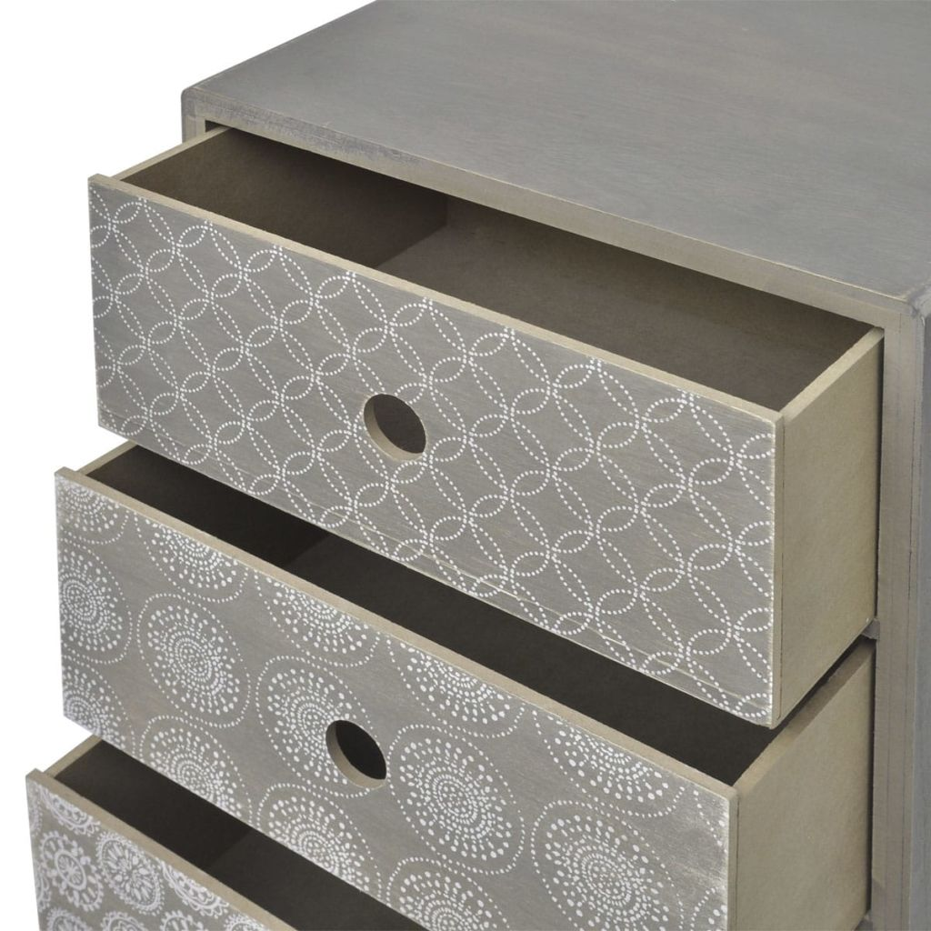 Side Cabinet 5 Drawers Grey 5