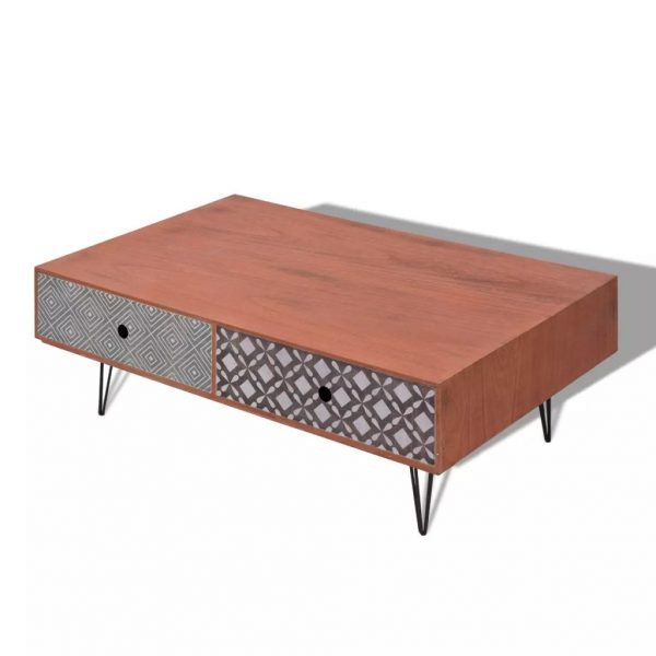 Coffee Table 100x60x35 cm Brown 2