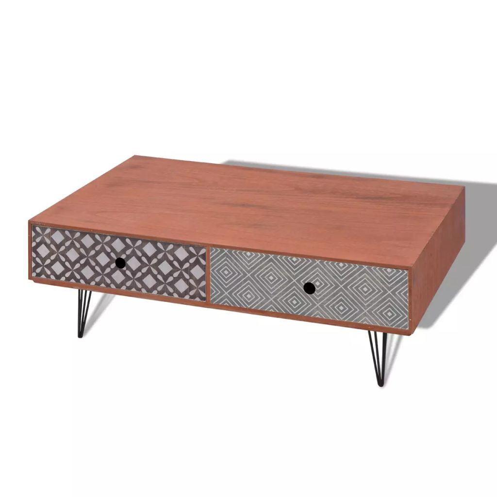 Coffee Table 100x60x35 cm Brown 4