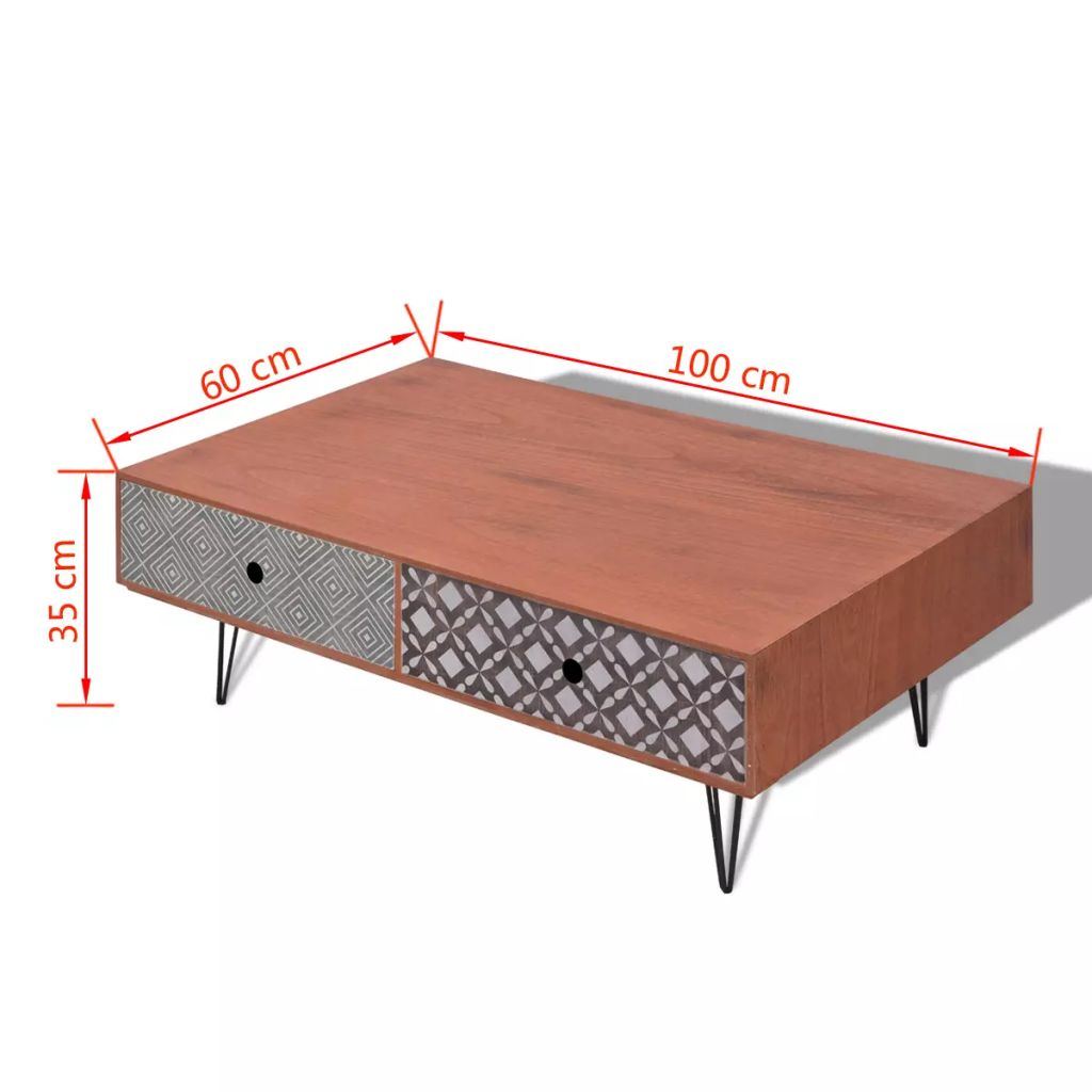 Coffee Table 100x60x35 cm Brown 5