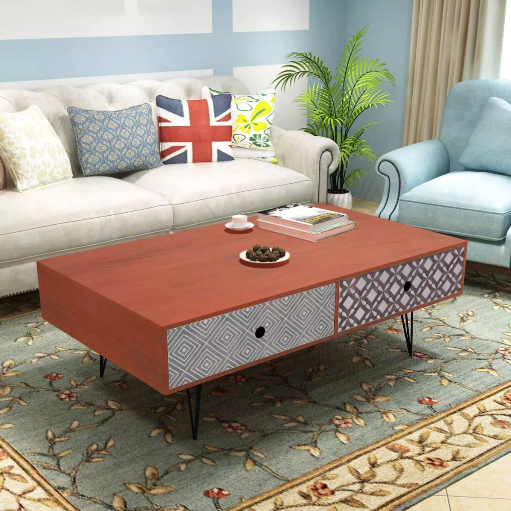 Coffee Table 100x60x35 cm Brown 1