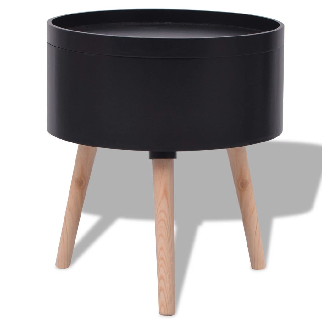 Side Table with Serving Tray Round 39.5×44