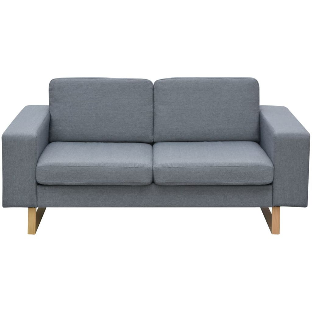 2-Seater and 3-Seater Sofa Set Light Grey 3