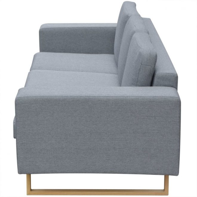 2-Seater and 3-Seater Sofa Set Light Grey 7