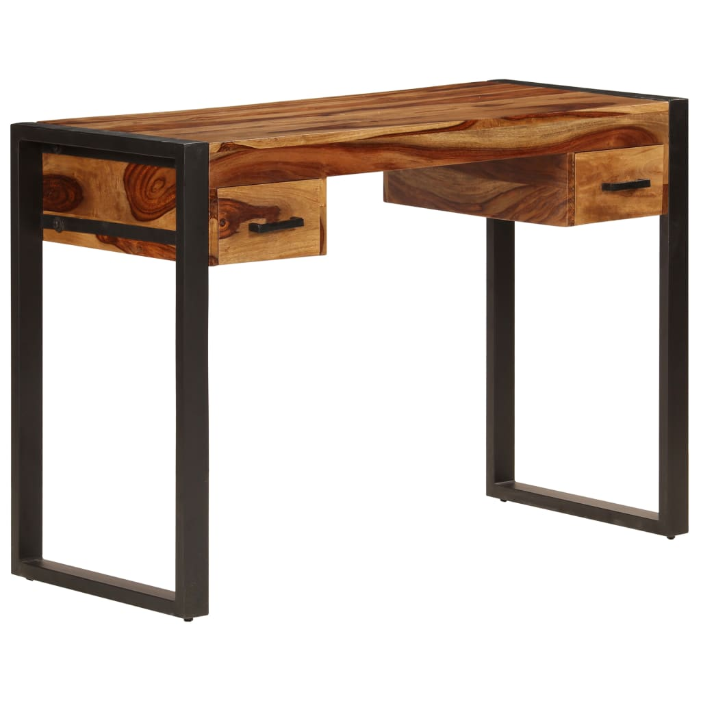 Desk with 2 Drawers 110x50x77 cm Solid Sheesham Wood 1