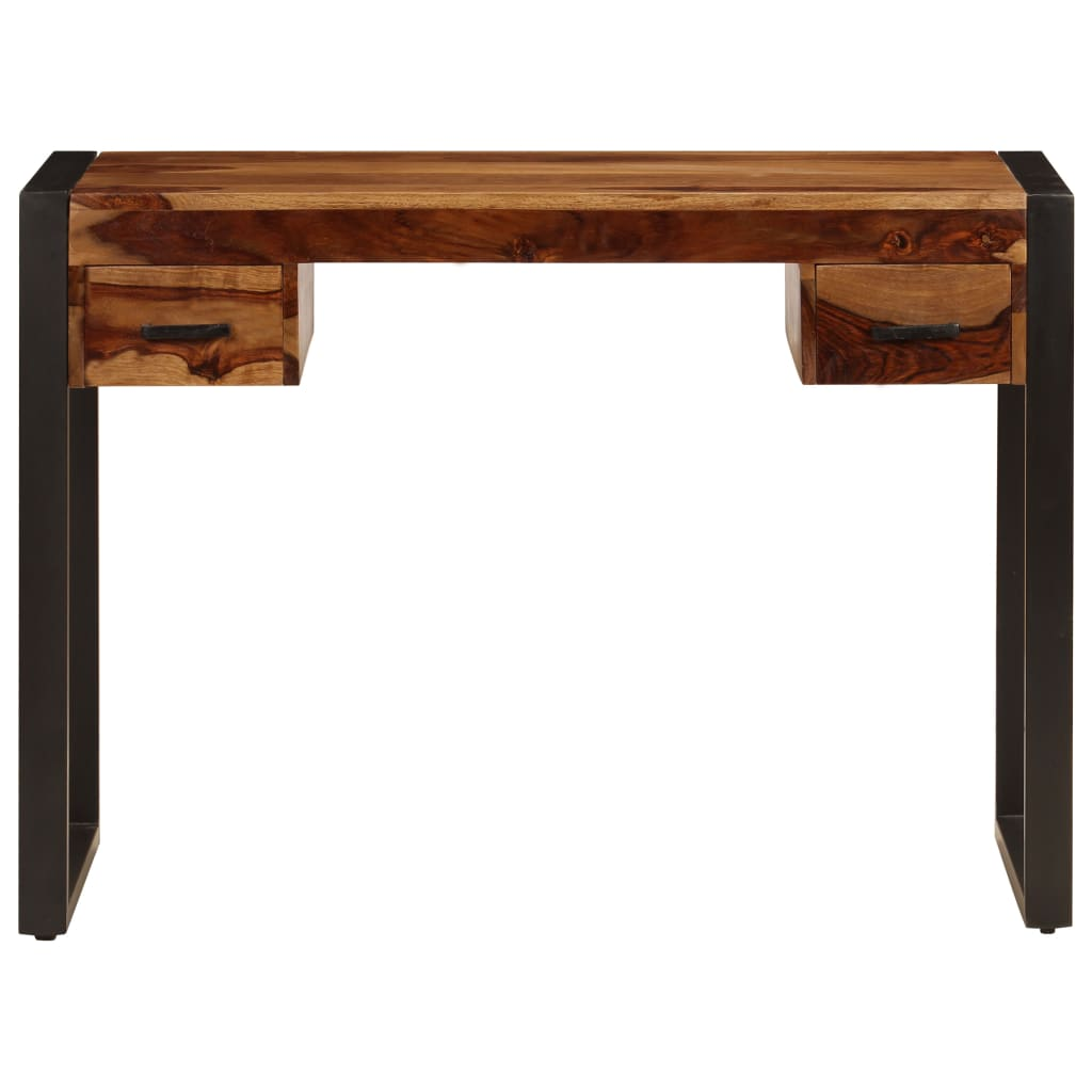 Desk with 2 Drawers 110x50x77 cm Solid Sheesham Wood 2