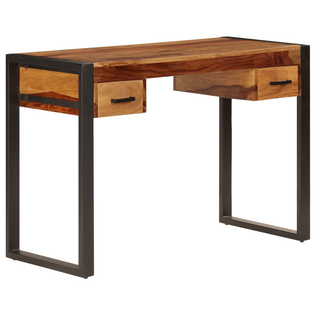 Desk with 2 Drawers 110x50x77 cm Solid Sheesham Wood 11