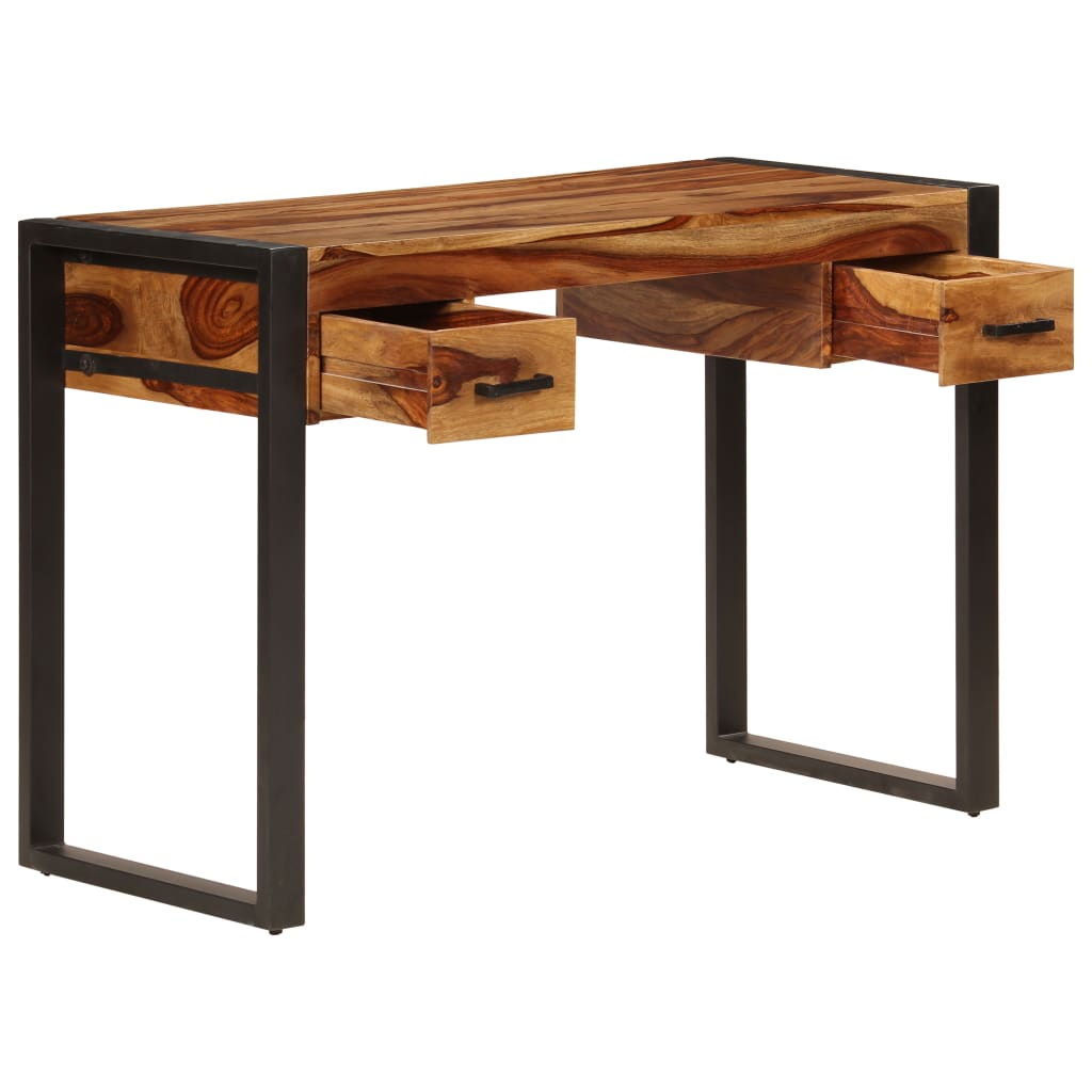 Desk with 2 Drawers 110x50x77 cm Solid Sheesham Wood 3