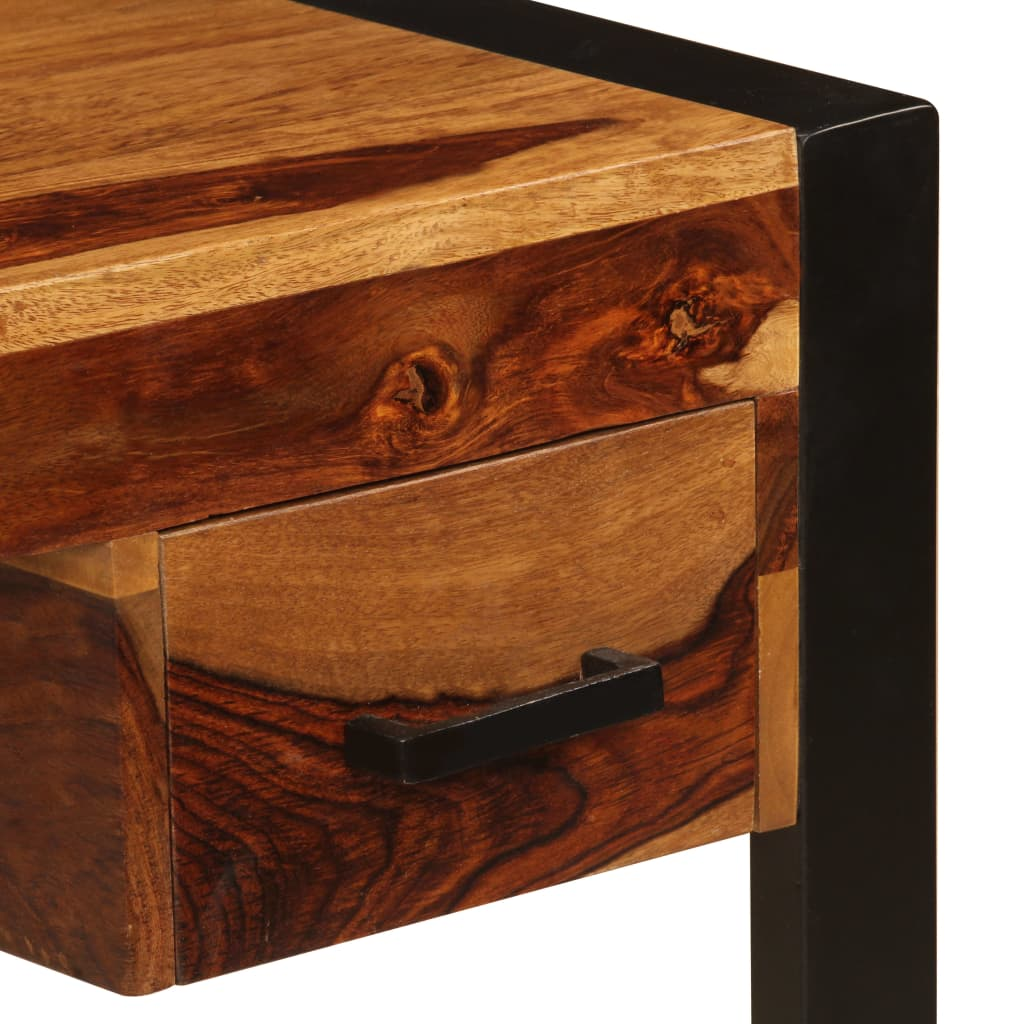 Desk with 2 Drawers 110x50x77 cm Solid Sheesham Wood 4