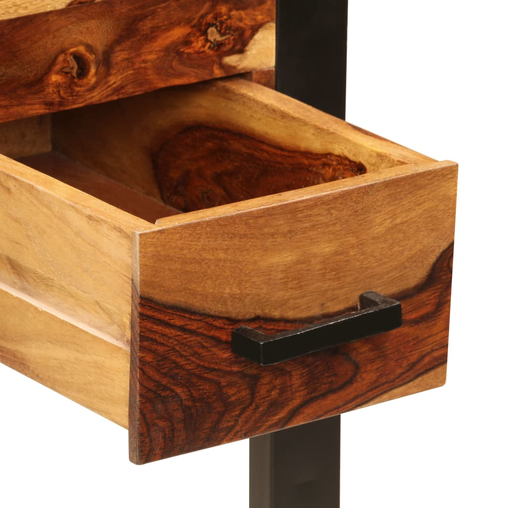 Desk with 2 Drawers 110x50x77 cm Solid Sheesham Wood 5