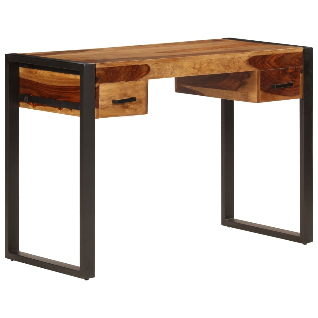 Desk with 2 Drawers 110x50x77 cm Solid Sheesham Wood 9