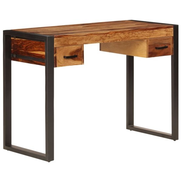 Desk with 2 Drawers 110x50x77 cm Solid Sheesham Wood 10