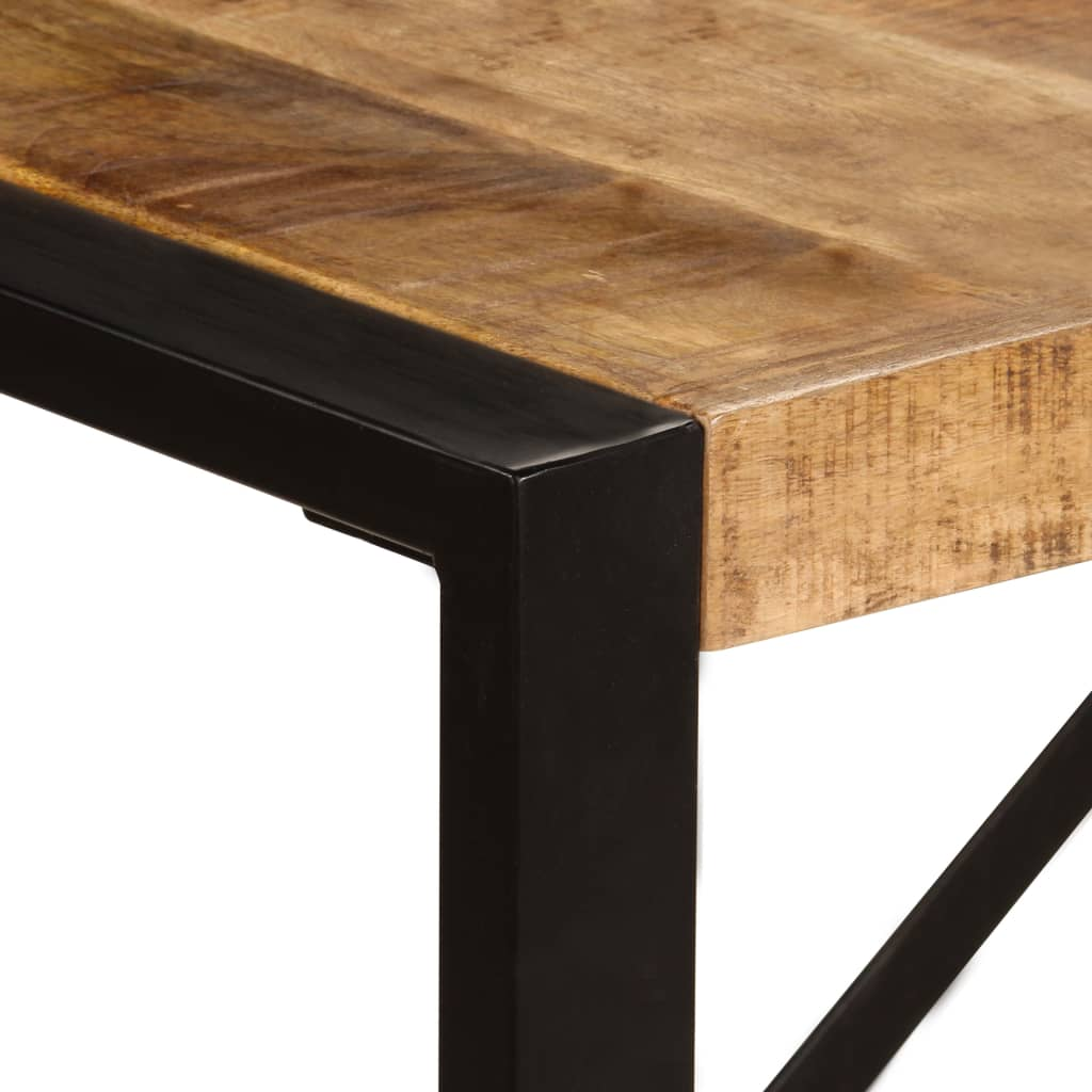 Dining Table 220x100x75 cm Solid Mango Wood 4