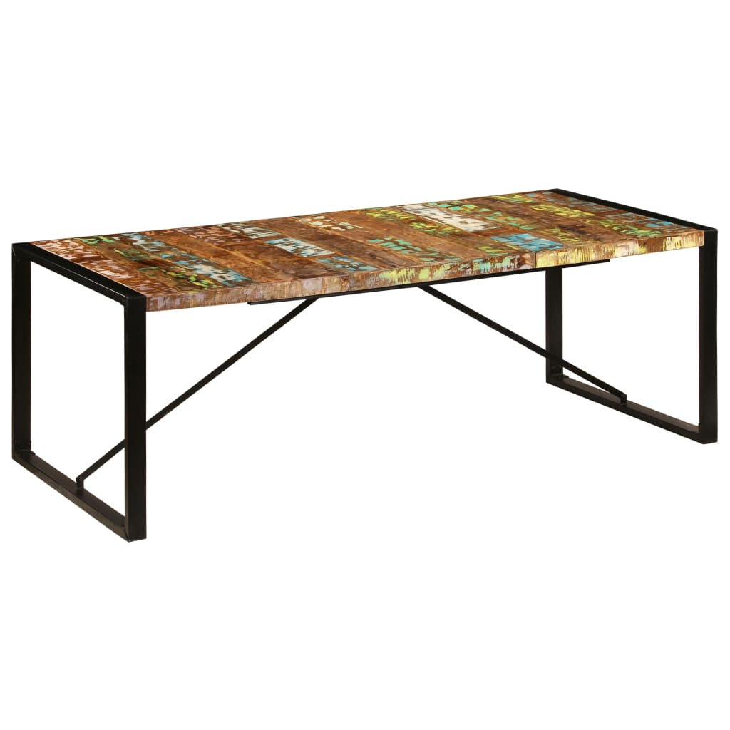 Dining Table 220x100x75 cm Solid Reclaimed Wood 7