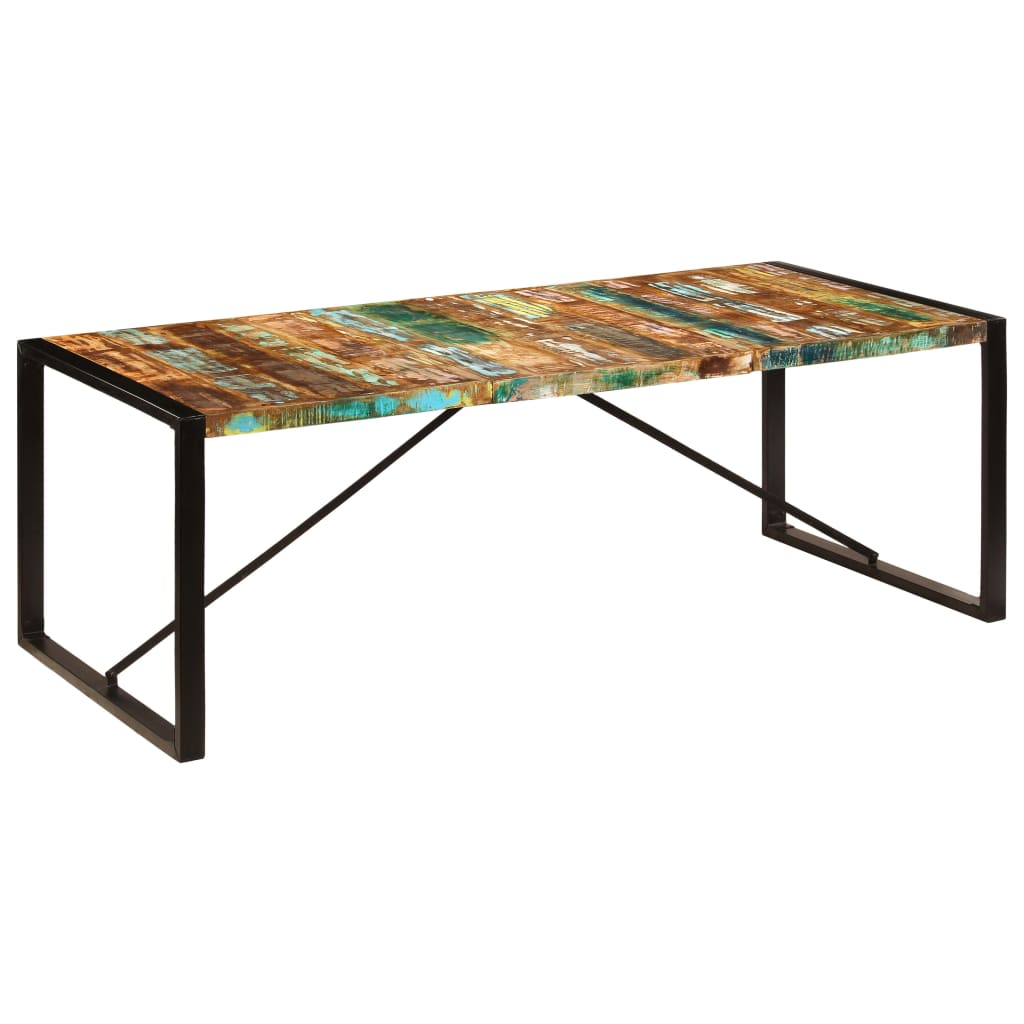 Dining Table 220x100x75 cm Solid Reclaimed Wood 9