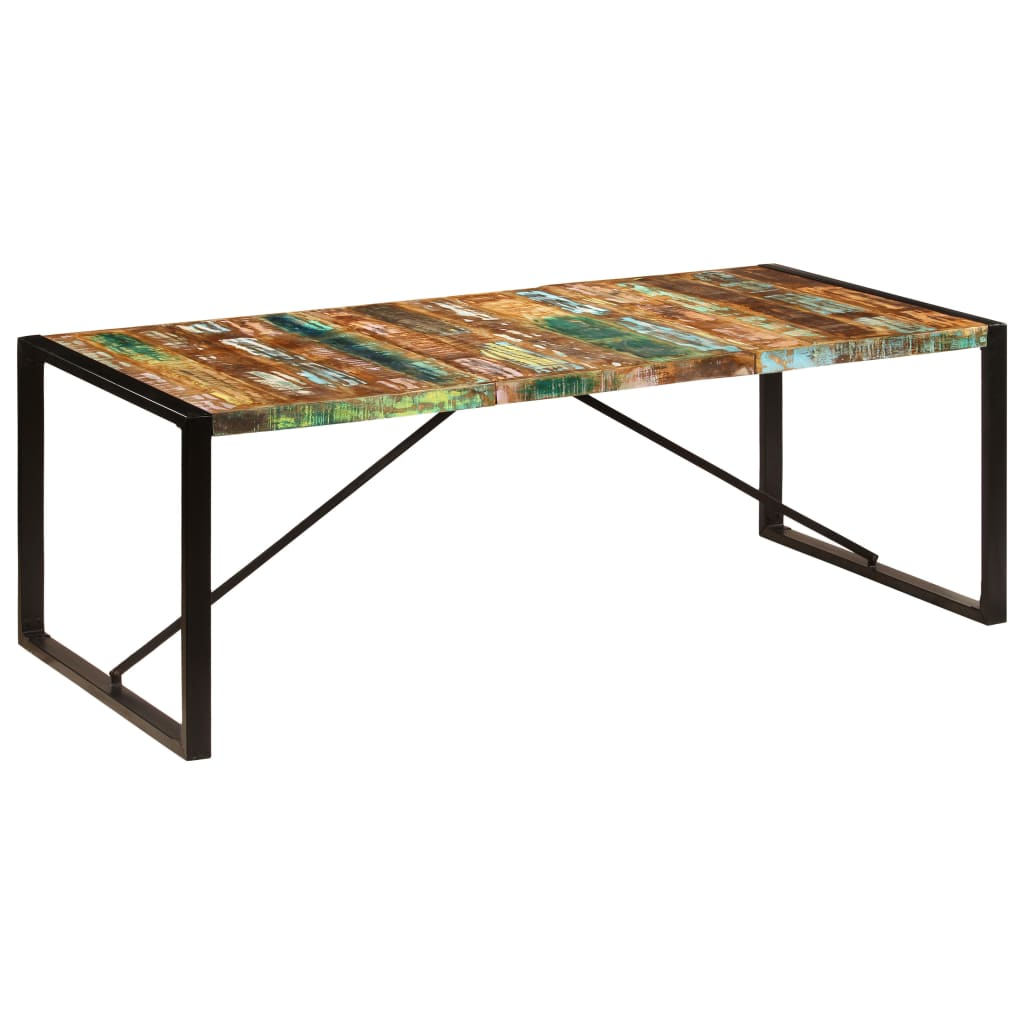 Dining Table 220x100x75 cm Solid Reclaimed Wood 10
