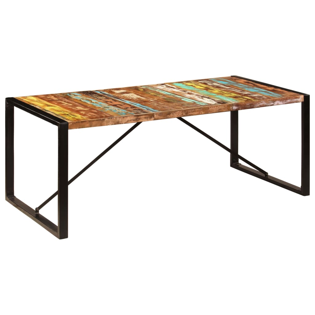 Dining Table 200x100x75 cm Solid Reclaimed Wood 9