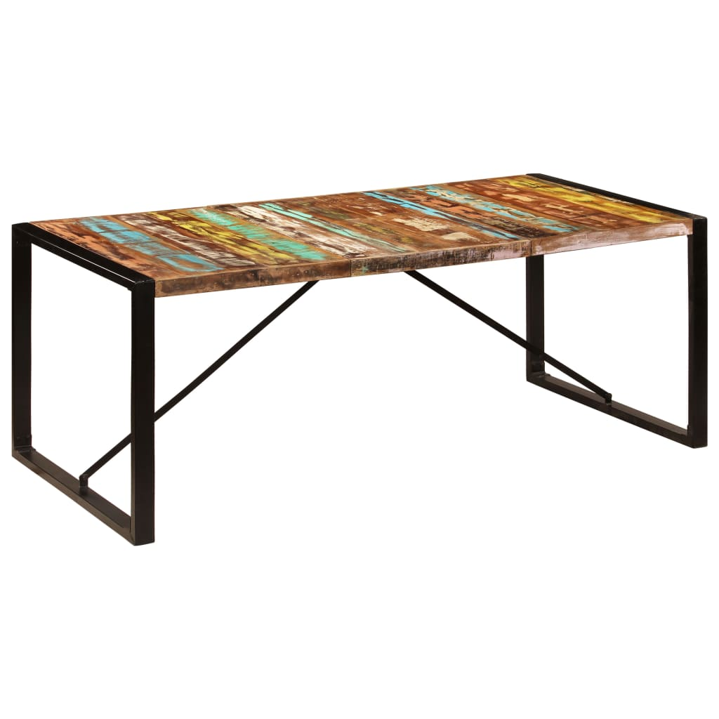 Dining Table 200x100x75 cm Solid Reclaimed Wood 10