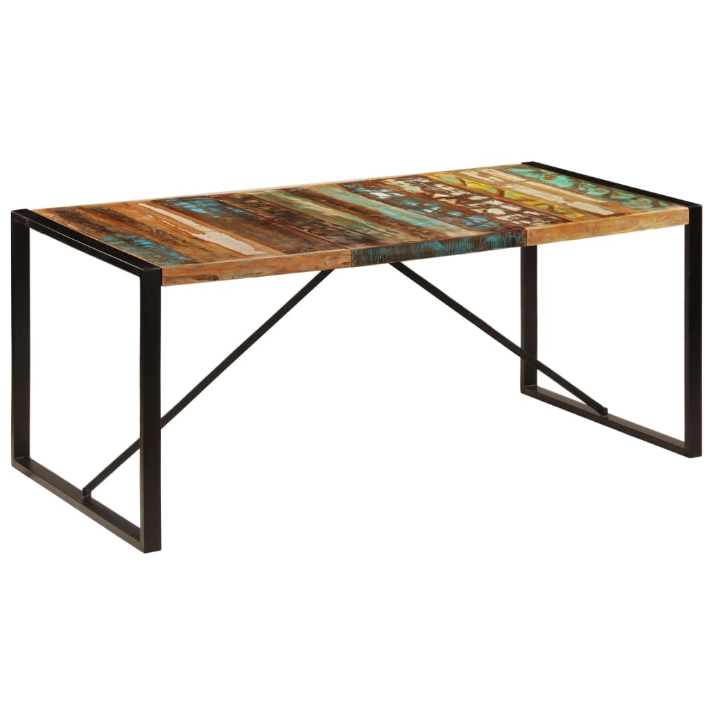 Dining Table 180x90x75 cm Solid Reclaimed Wood 1