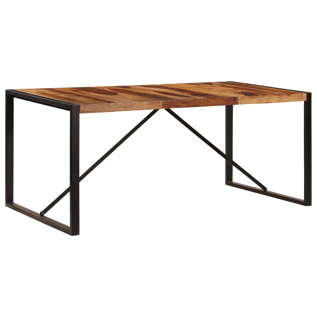 Dining Table 180x90x75 cm Solid Sheesham Wood 11