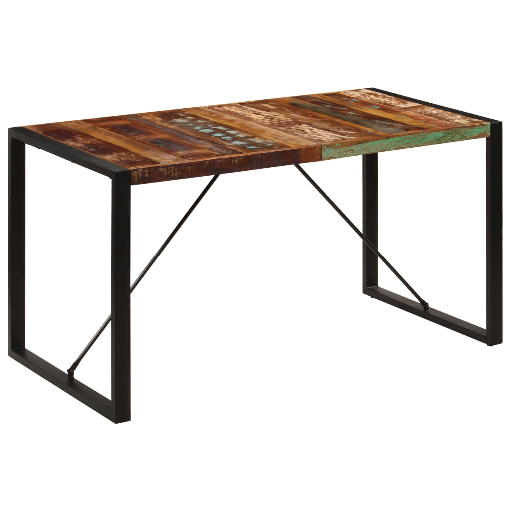 Dining Table 140x70x75 cm Solid Reclaimed Wood