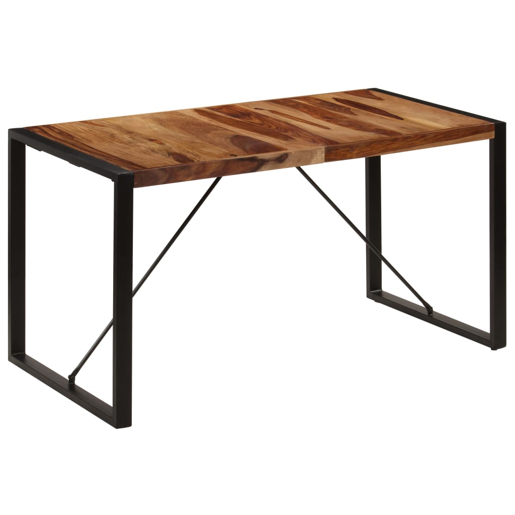 Dining Table 140x70x75 cm Solid Sheesham Wood 1