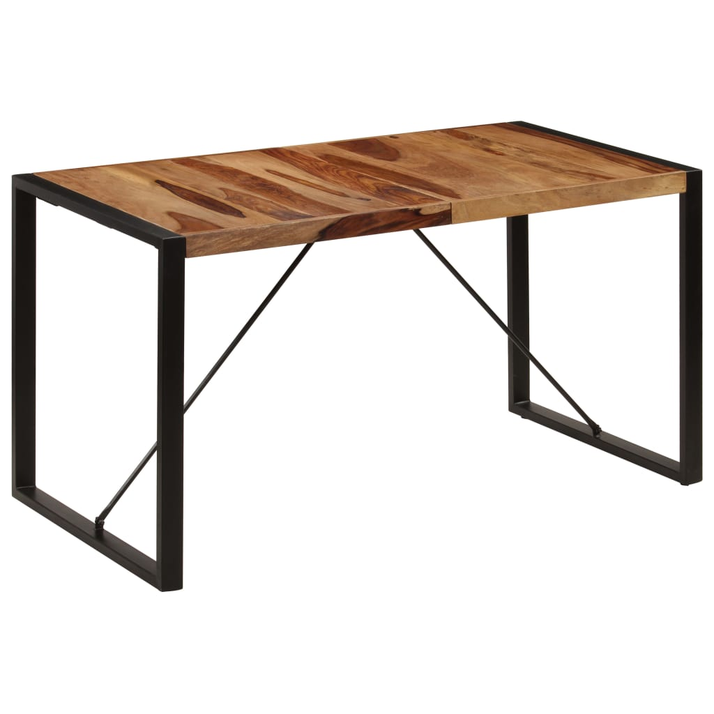 Dining Table 140x70x75 cm Solid Sheesham Wood 11