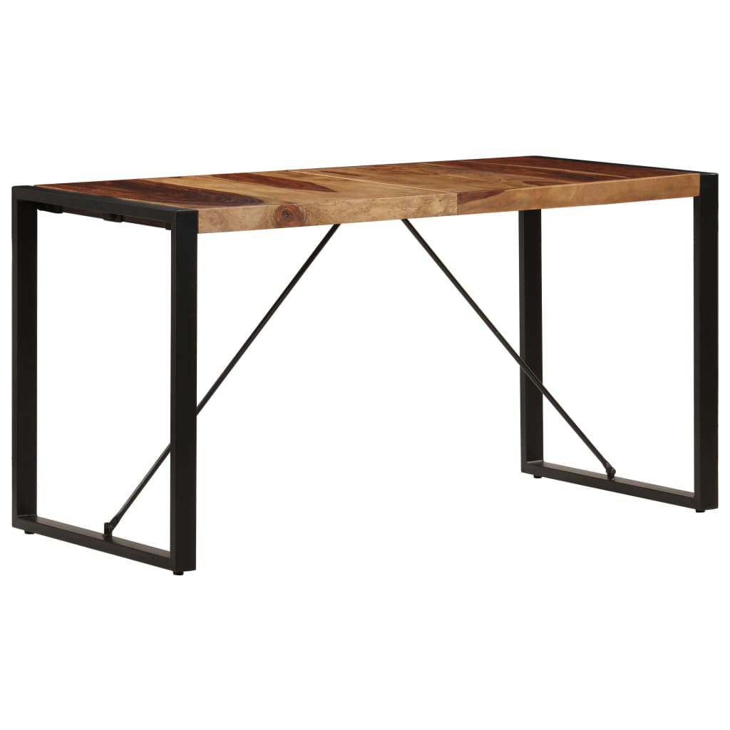 Dining Table 140x70x75 cm Solid Sheesham Wood 4