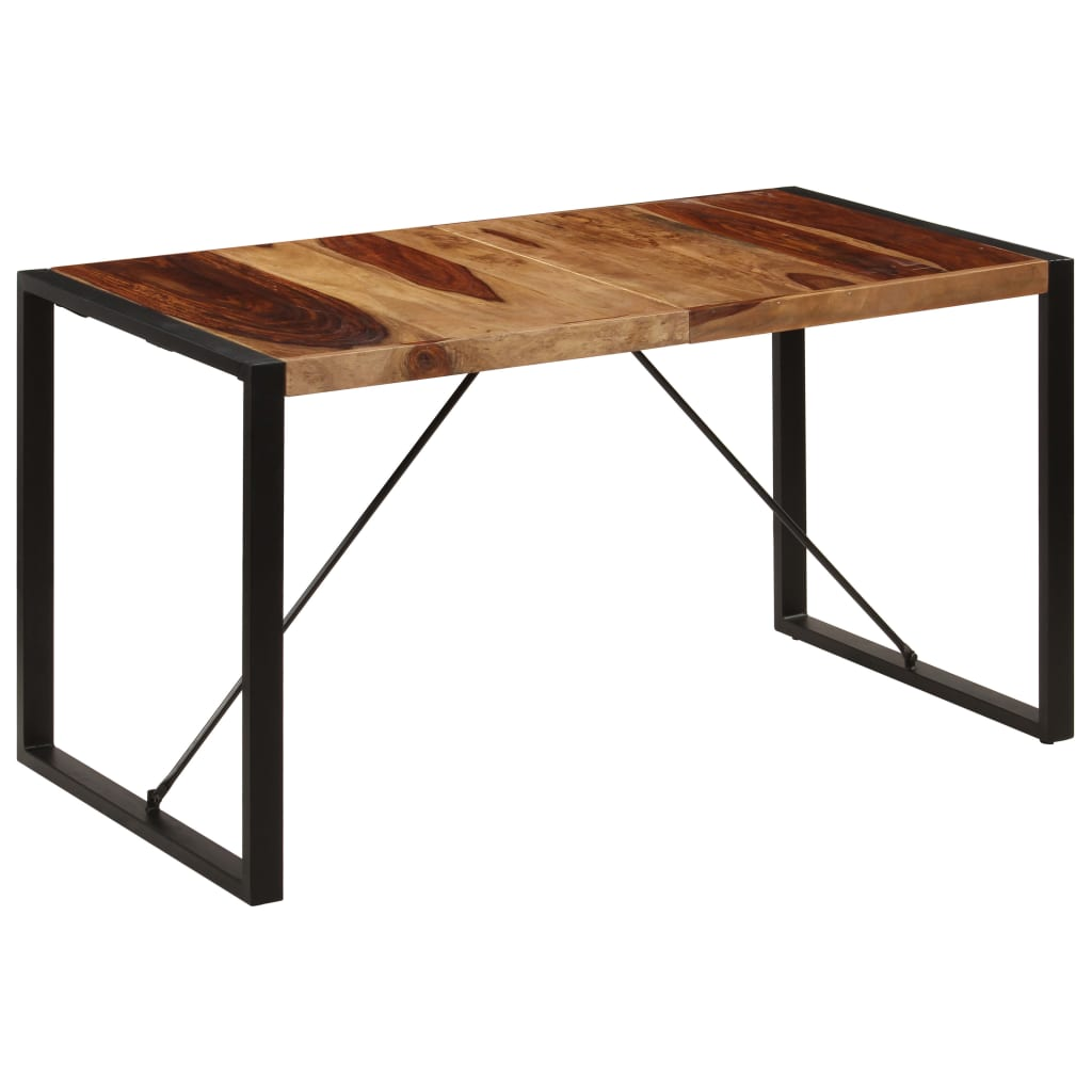 Dining Table 140x70x75 cm Solid Sheesham Wood 9