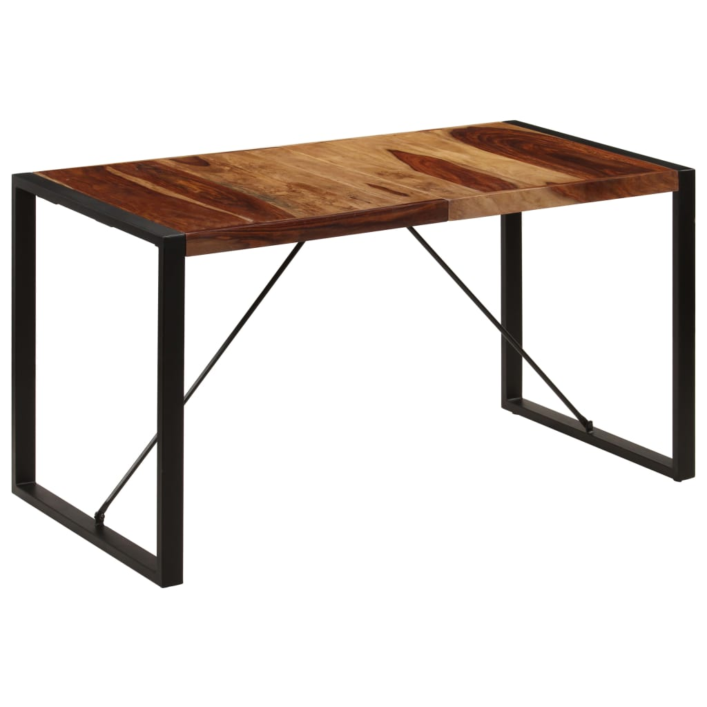 Dining Table 140x70x75 cm Solid Sheesham Wood 10