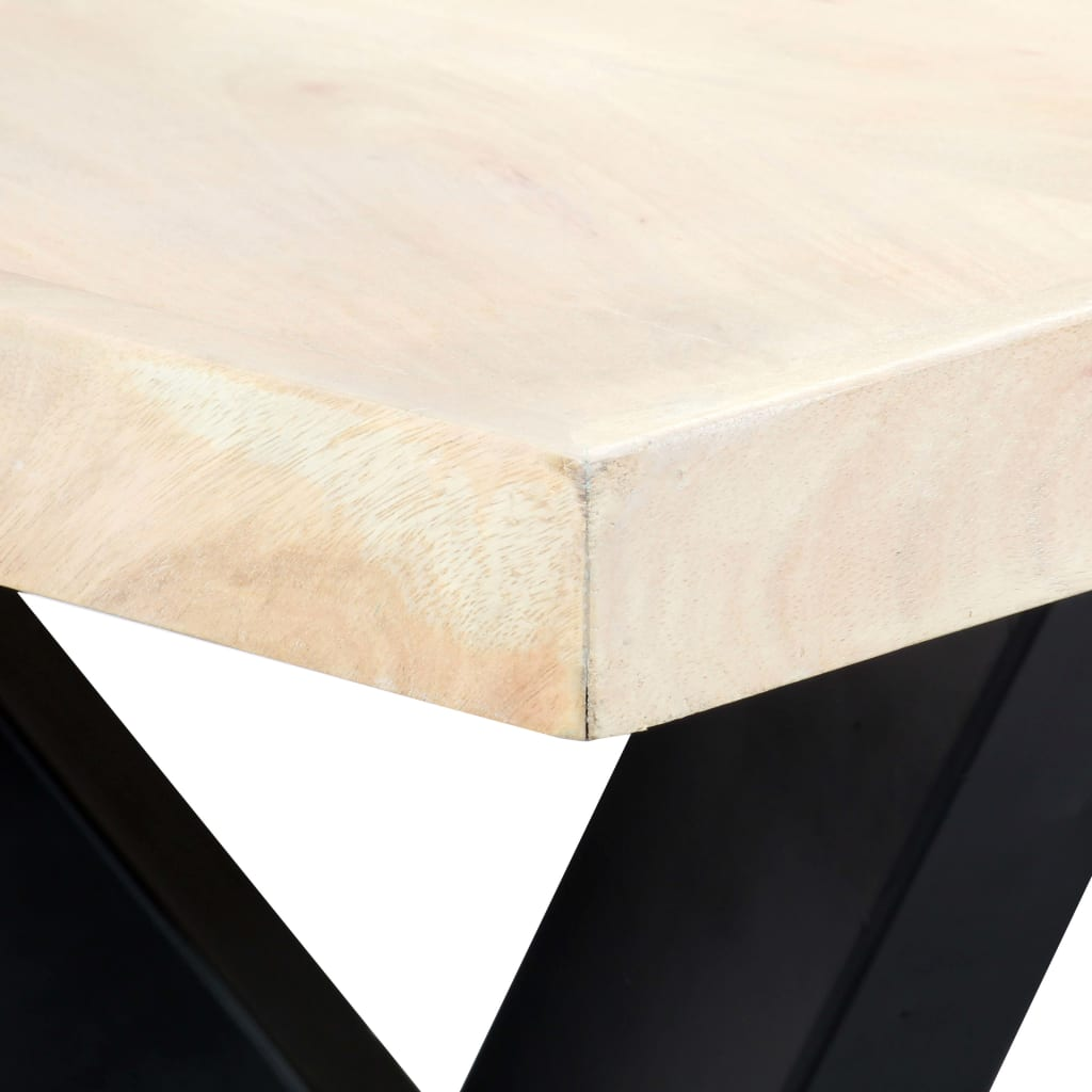 Dining Table White 180x90x75 cm Solid Mango Wood 4