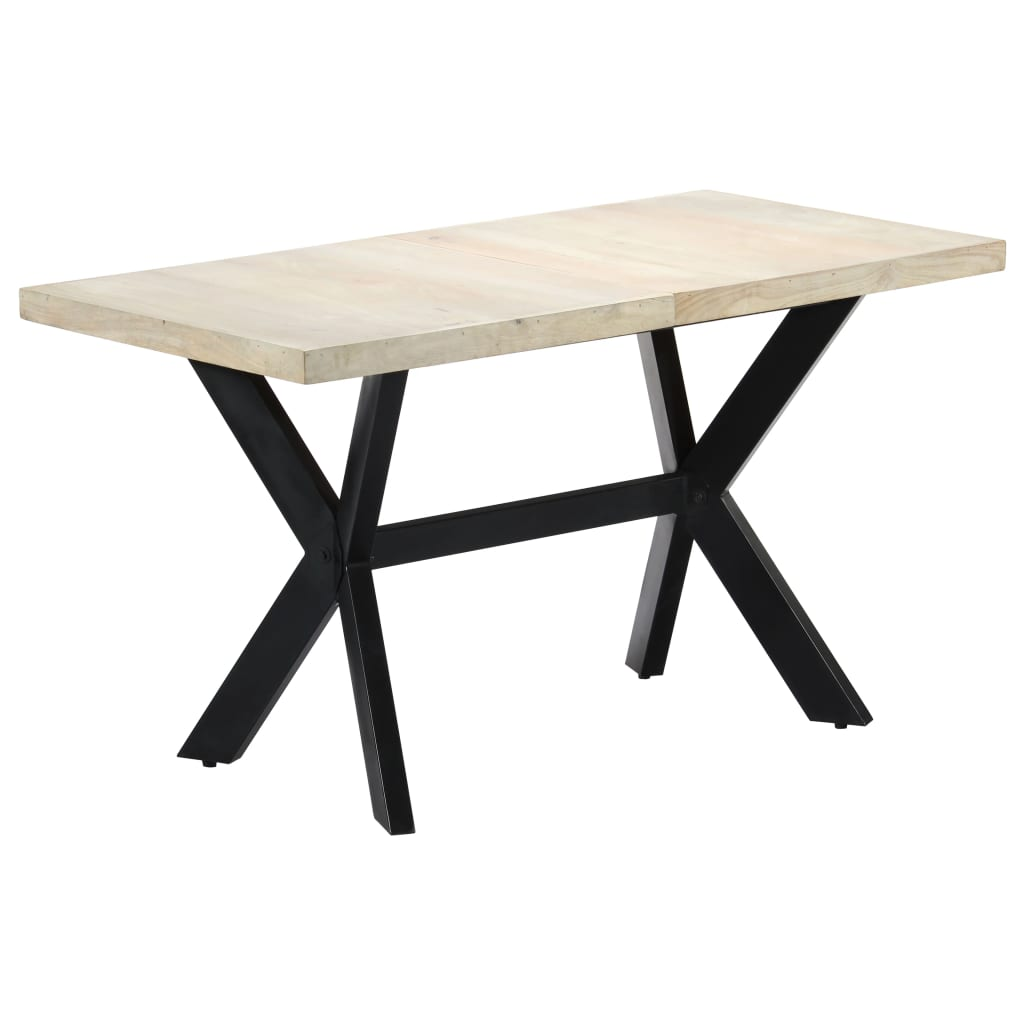 Dining Table 140x70x75 cm Solid Bleached Mango Wood 1