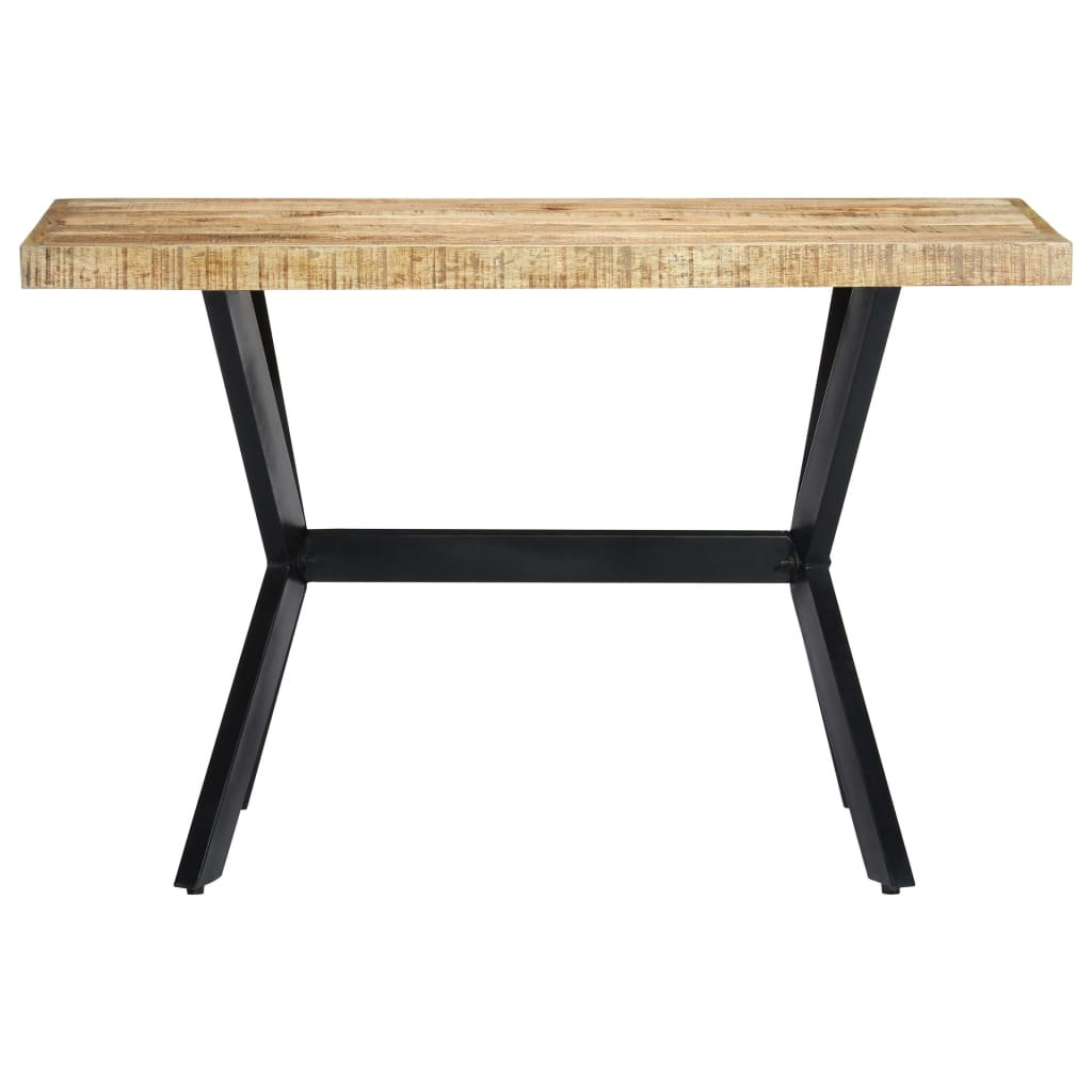 Dining Table 120x60x75 cm Solid Rough Mango Wood 2