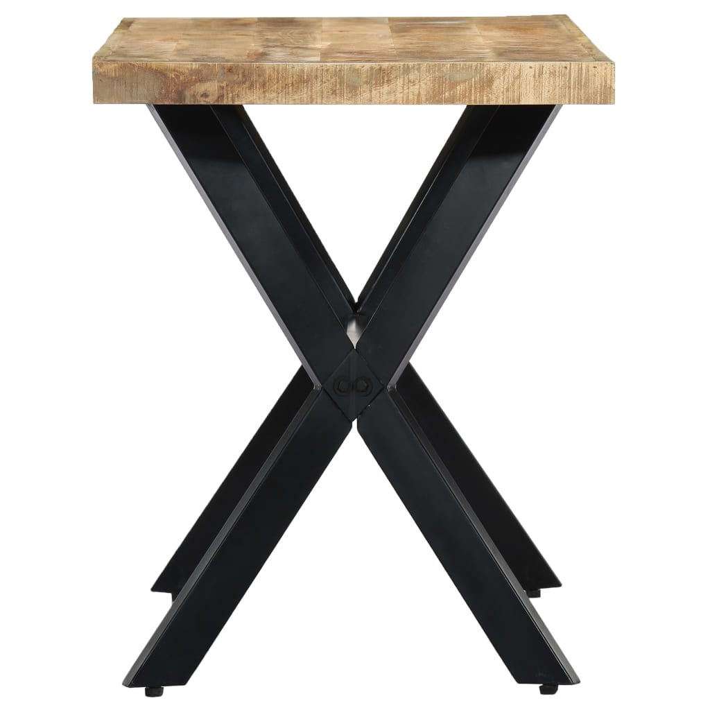 Dining Table 120x60x75 cm Solid Rough Mango Wood 3