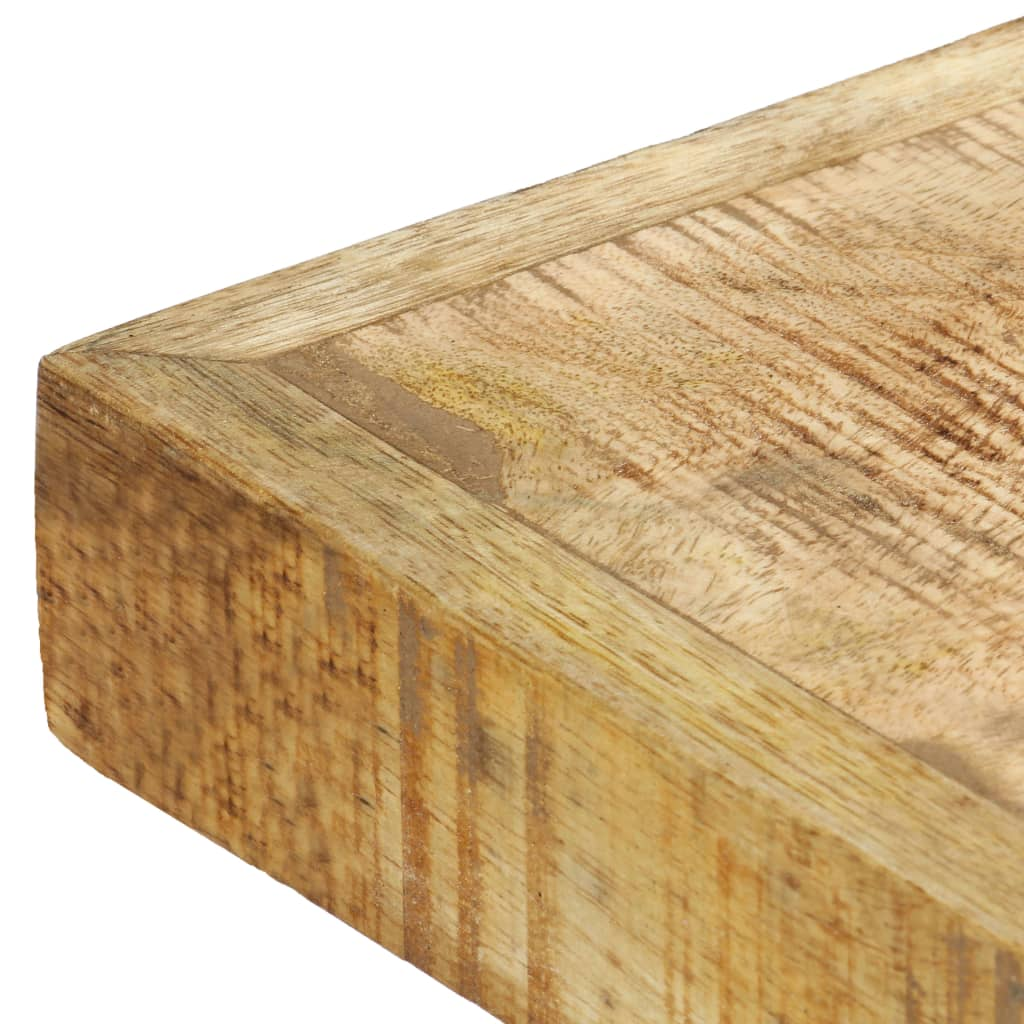 Dining Table 120x60x75 cm Solid Rough Mango Wood 4