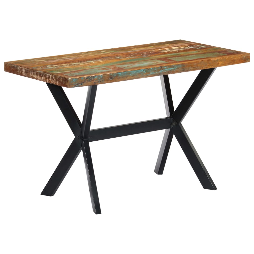 Dining Table 120x60x75 cm Solid Reclaimed Wood 1