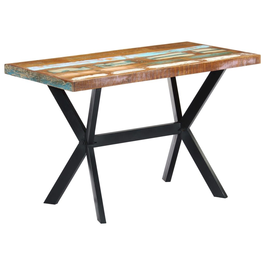 Dining Table 120x60x75 cm Solid Reclaimed Wood 11
