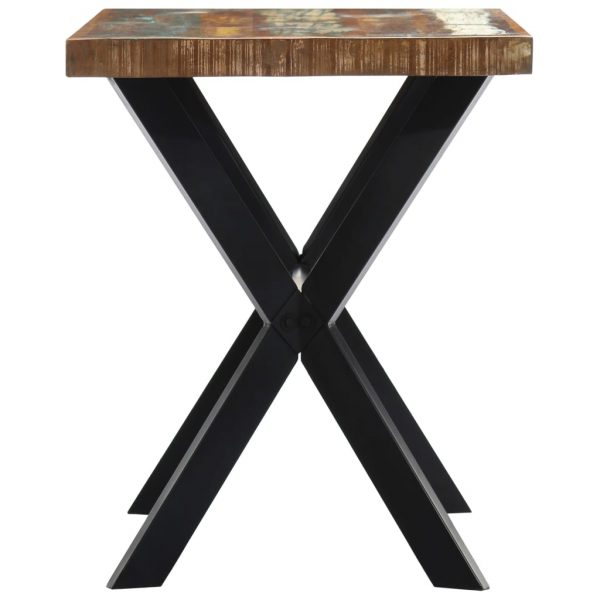 Dining Table 120x60x75 cm Solid Reclaimed Wood 3
