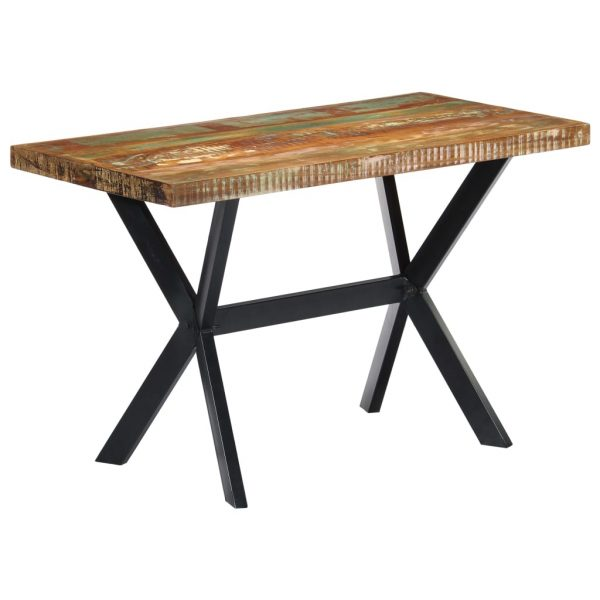 Dining Table 120x60x75 cm Solid Reclaimed Wood 8