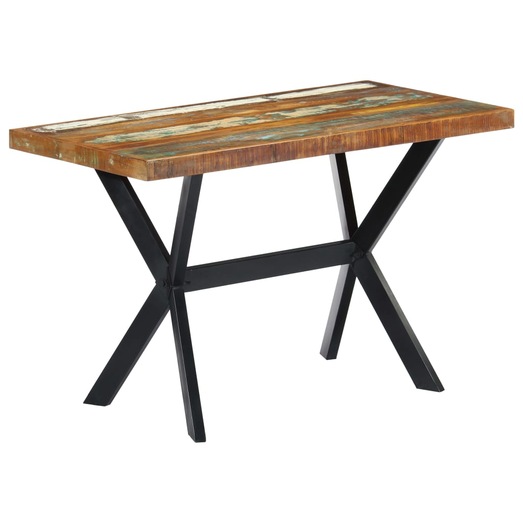 Dining Table 120x60x75 cm Solid Reclaimed Wood 9