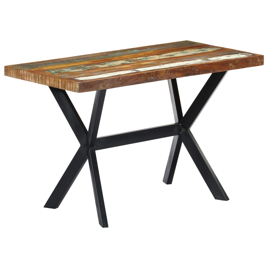 Dining Table 120x60x75 cm Solid Reclaimed Wood 10