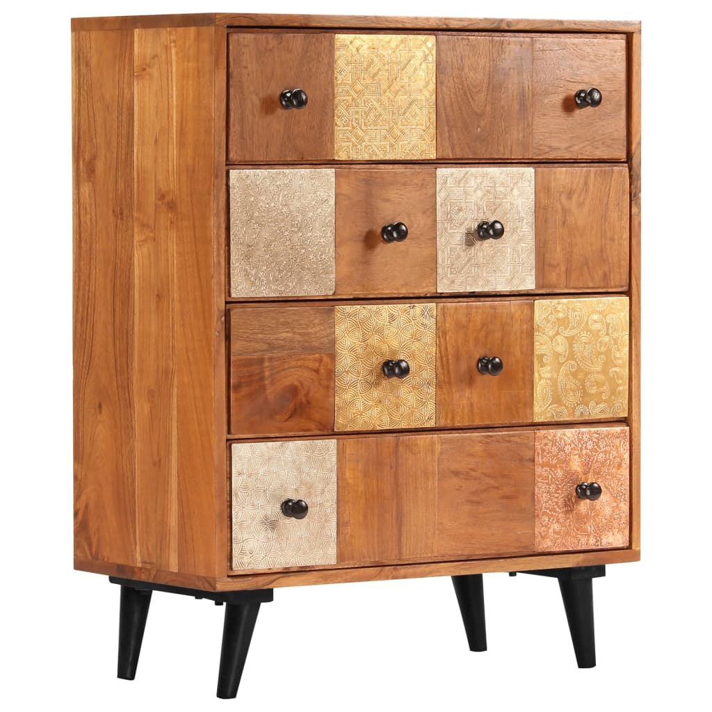Chest of Drawers 60x30x75 cm Solid Acacia Wood 1