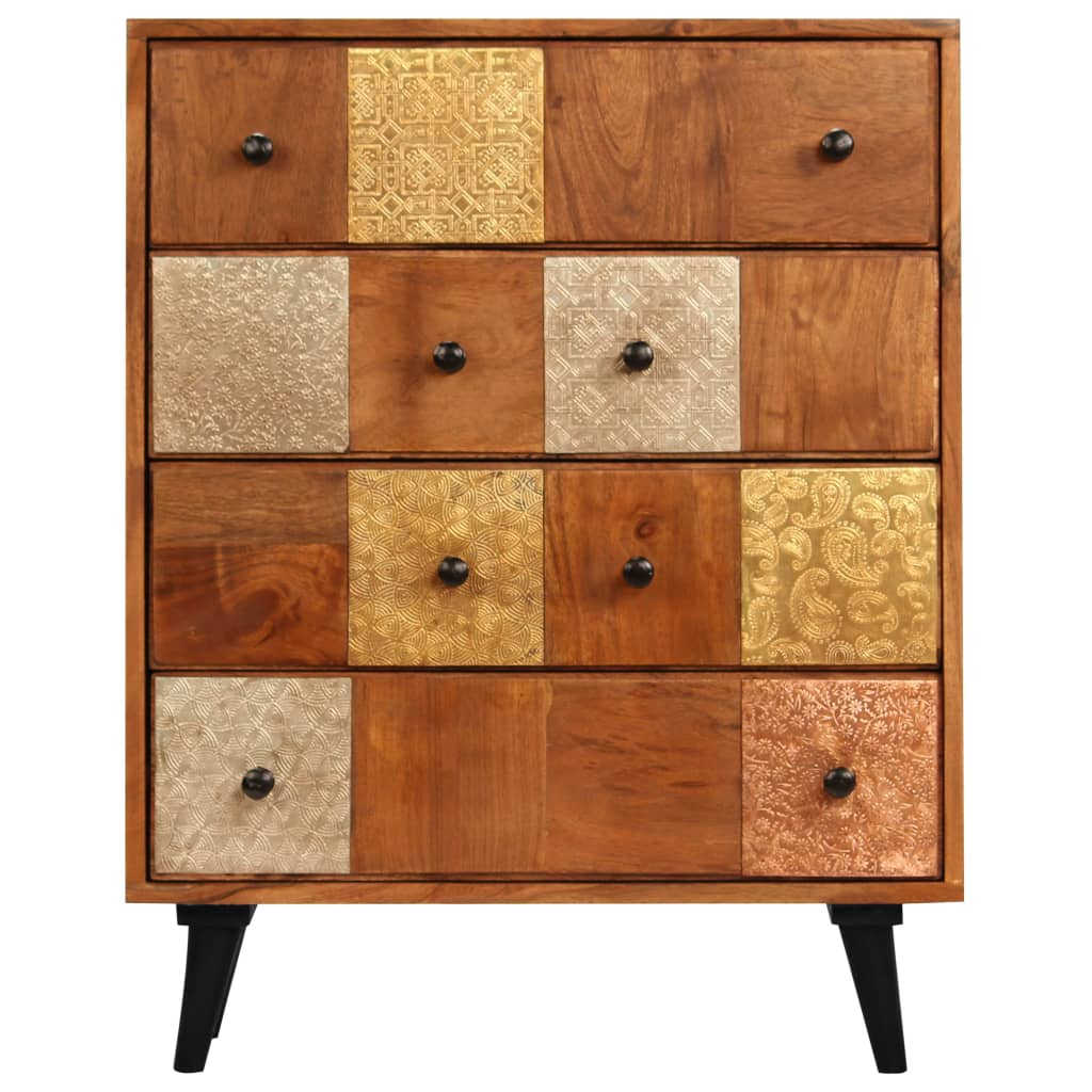 Chest of Drawers 60x30x75 cm Solid Acacia Wood 3