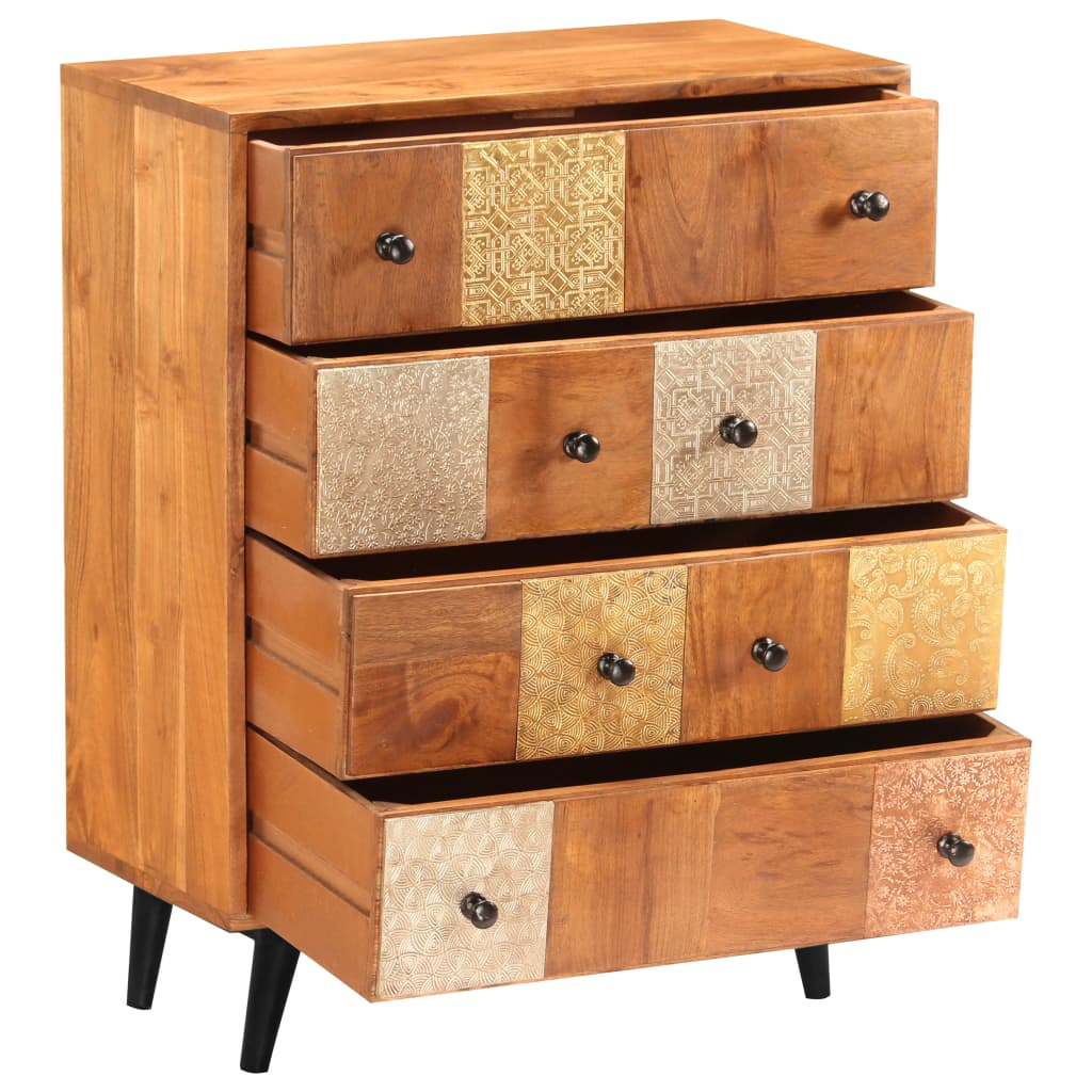 Chest of Drawers 60x30x75 cm Solid Acacia Wood 4